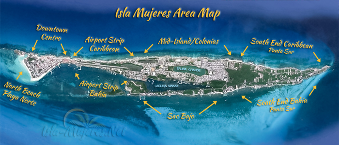 Basic Isla Mujeres Area Map