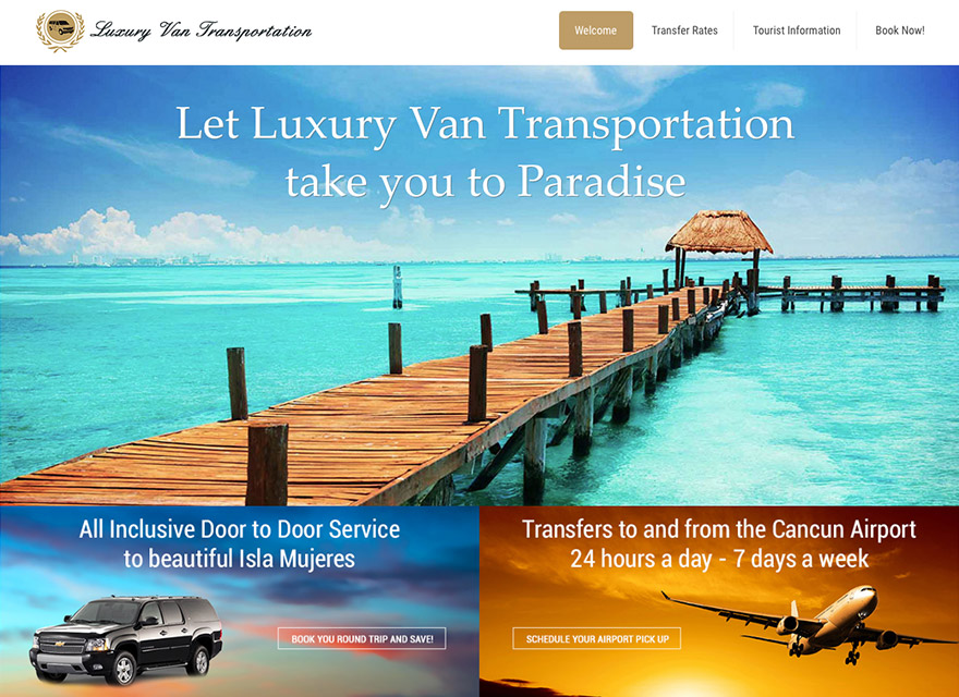 Luxury Van Transportation, Transfers to Isla Mujeres and Cancun