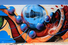Sea Wall Murals photo by Massimo Milanesi