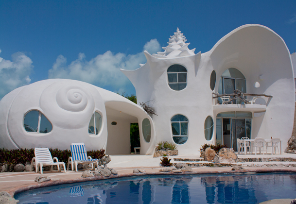 The shell house casa caracol isla mujeres for Actual home cancun