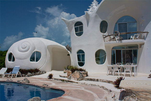 The Shell House Casa Caracol Isla Mujeres - Conch-shell-house
